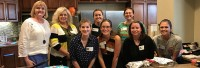 """Pictured are members of the Kansas City Chapter at the Ronald McDonald Family Room inside Children's Mercy Hospital.  The members prepared and served """"breakfast for dinner"""" to more than 50 parents and friends of critically ill children."""